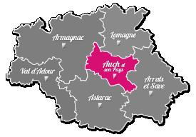 Territoire Carte Gers